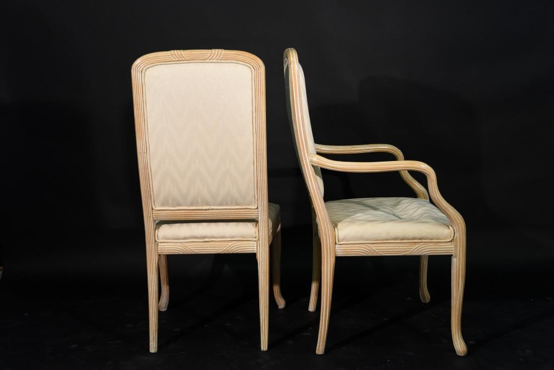 (4) JAMES MONT STYLE CERUSED OAK DINING CHAIRS - 10
