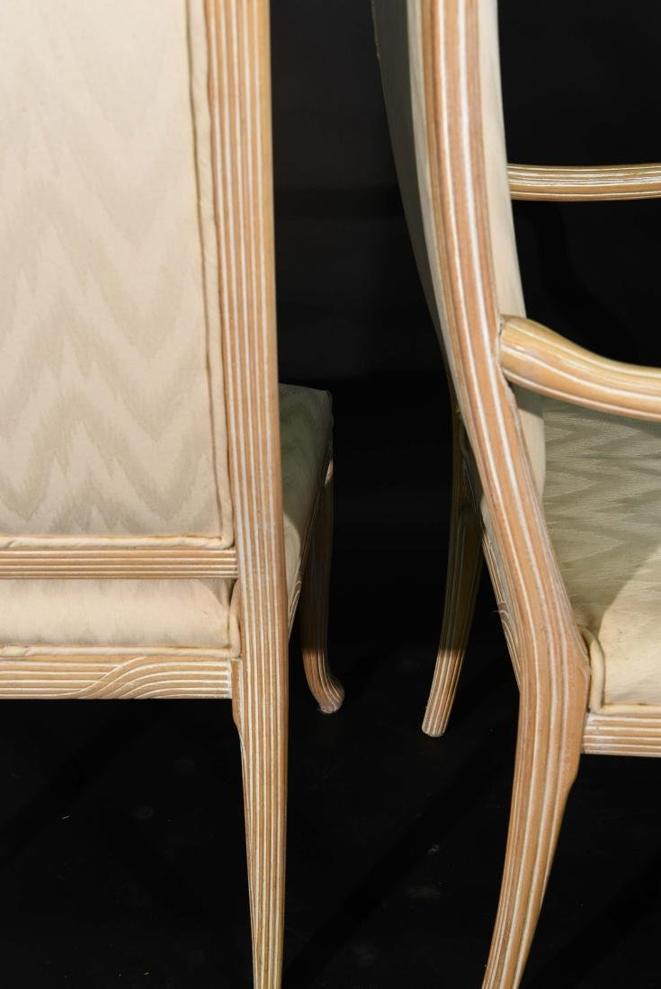 (4) JAMES MONT STYLE CERUSED OAK DINING CHAIRS - 11