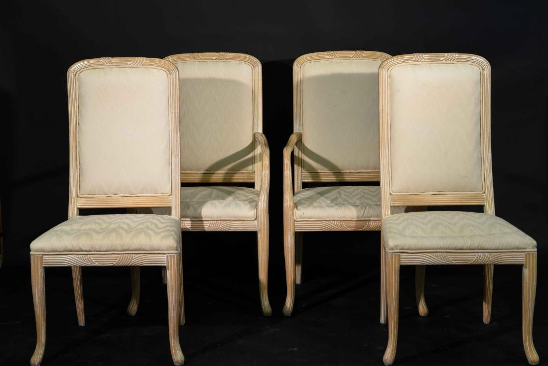 (4) JAMES MONT STYLE CERUSED OAK DINING CHAIRS