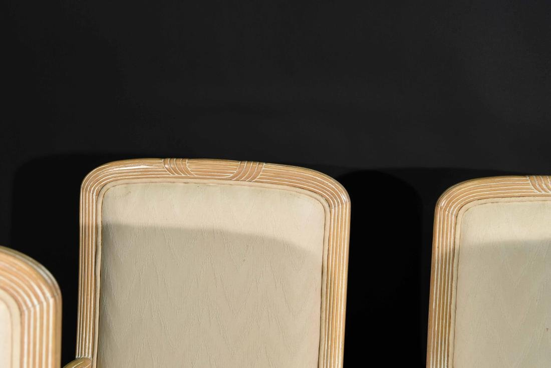 (4) JAMES MONT STYLE CERUSED OAK DINING CHAIRS - 4