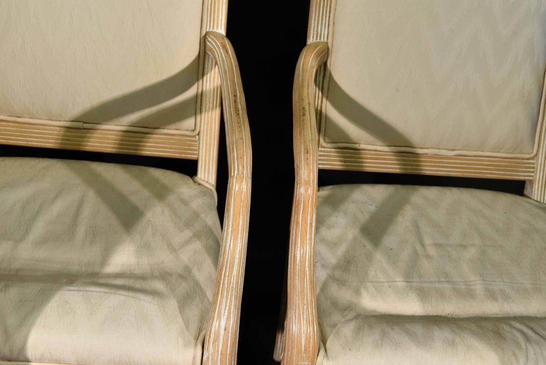(4) JAMES MONT STYLE CERUSED OAK DINING CHAIRS - 5