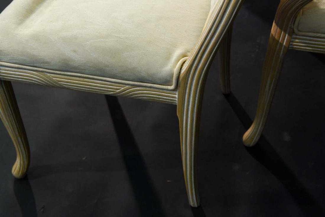 (4) JAMES MONT STYLE CERUSED OAK DINING CHAIRS - 8