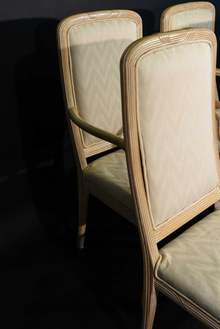 (4) JAMES MONT STYLE CERUSED OAK DINING CHAIRS - 9