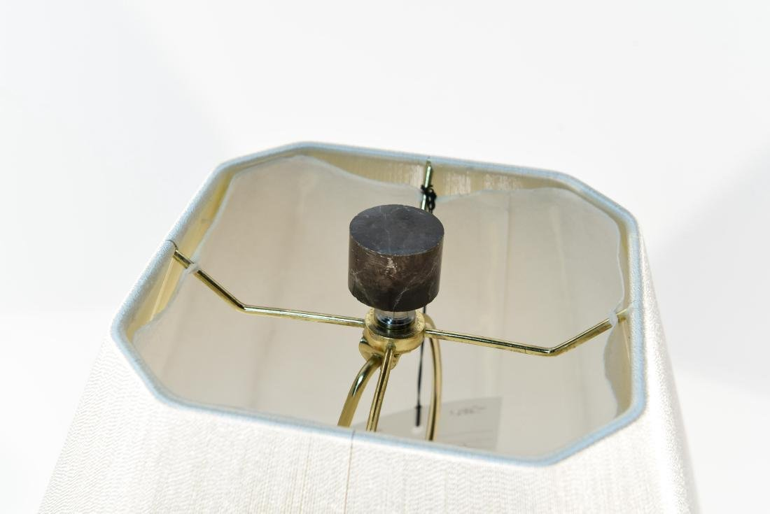 MARBLE LAMP WITH LUCITE BASE - 7