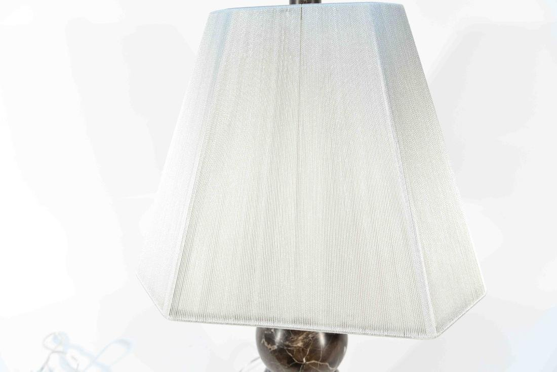 MARBLE LAMP WITH LUCITE BASE - 8