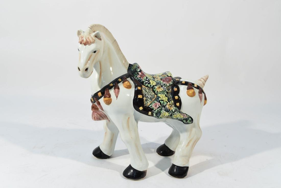 MID CENTURY ITALIAN PORCELAIN HORSE