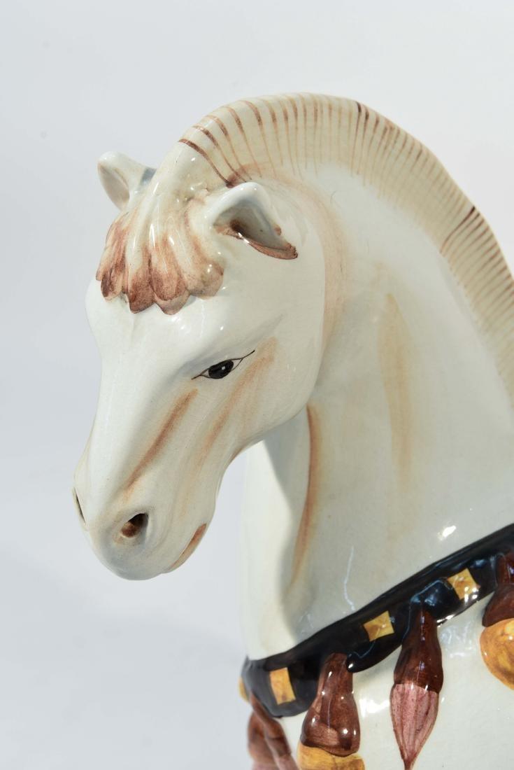 MID CENTURY ITALIAN PORCELAIN HORSE - 2