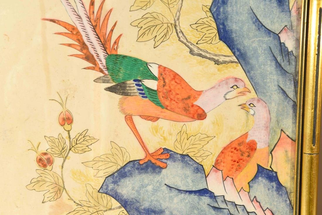PAIR OF CHINESE PAINTINGS - 3