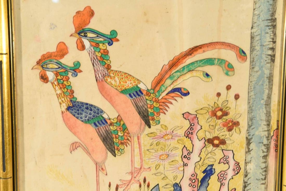 PAIR OF CHINESE PAINTINGS - 6