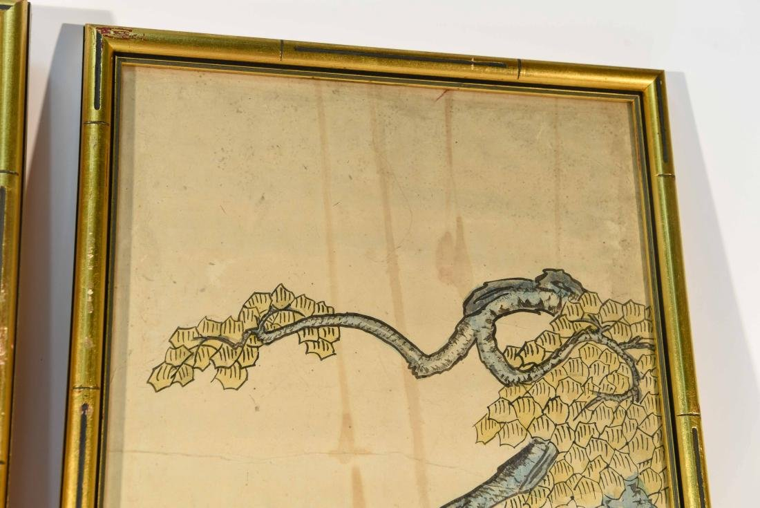 PAIR OF CHINESE PAINTINGS - 8