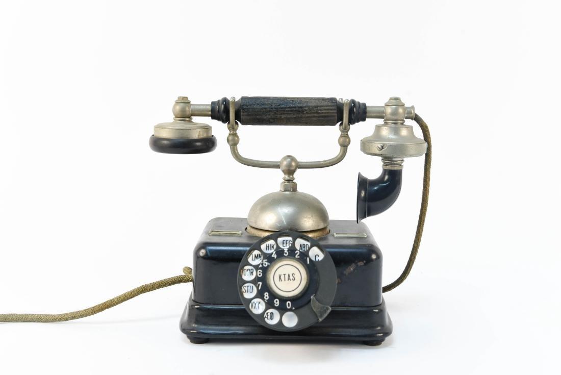 VINTAGE DANISH ROTARY CRADLE PHONE KJOBENHAVNS