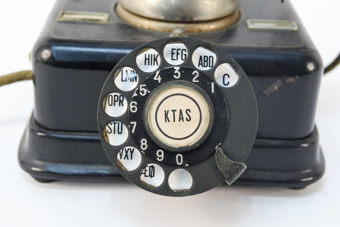 VINTAGE DANISH ROTARY CRADLE PHONE KJOBENHAVNS - 2