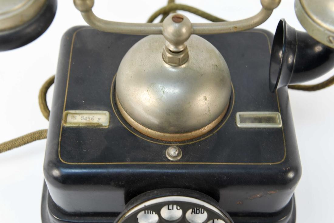 VINTAGE DANISH ROTARY CRADLE PHONE KJOBENHAVNS - 3