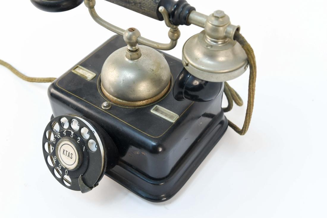 VINTAGE DANISH ROTARY CRADLE PHONE KJOBENHAVNS - 5