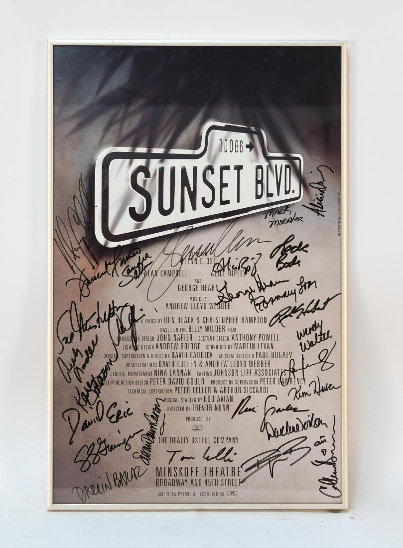 SUNSET BLVD SIGNED POSTER