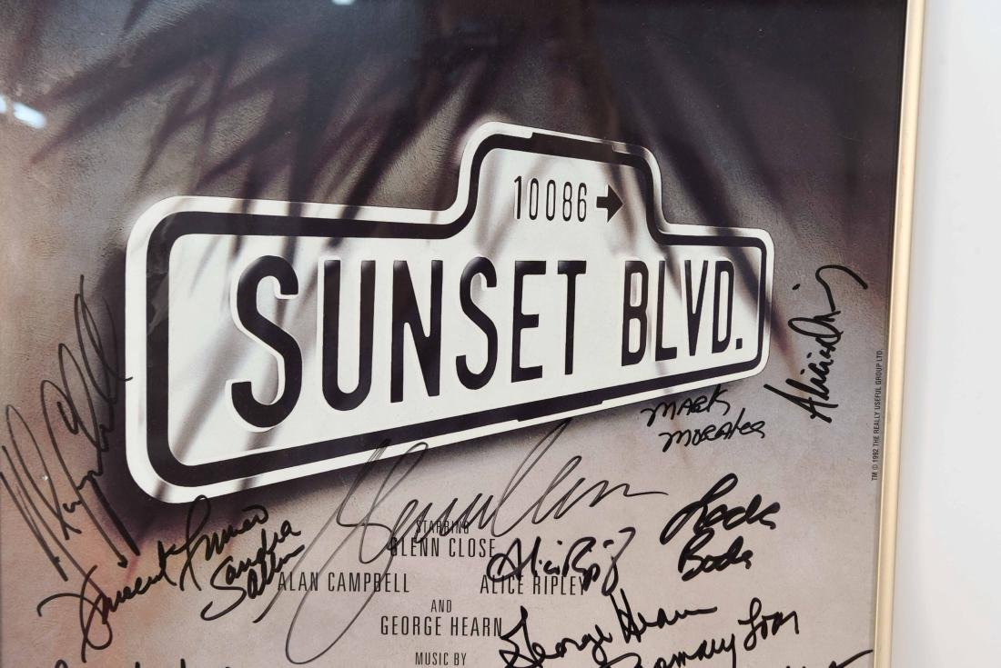 SUNSET BLVD SIGNED POSTER - 2