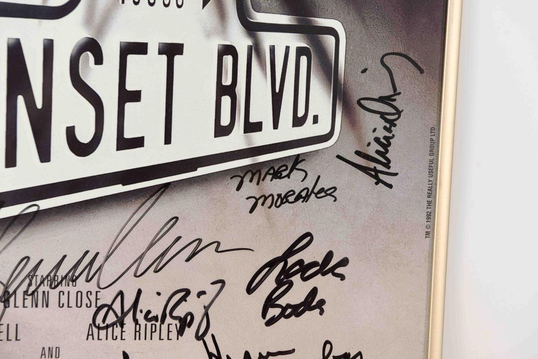 SUNSET BLVD SIGNED POSTER - 4