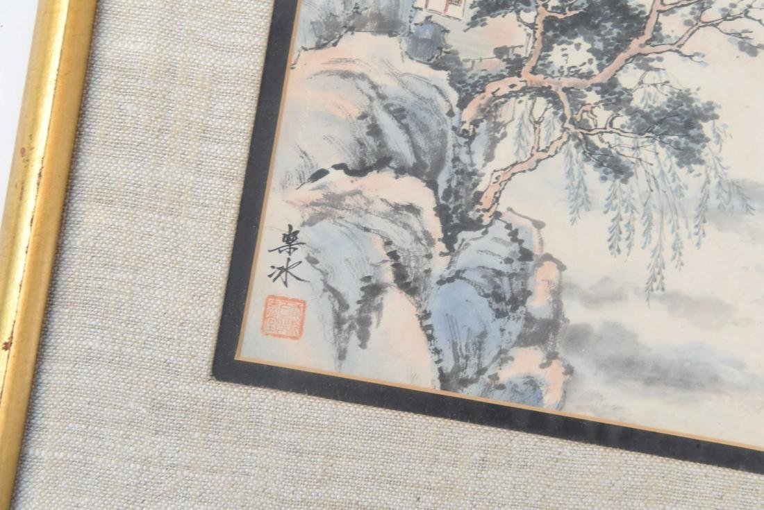 (4) CHINESE WATERCOLORS - 3