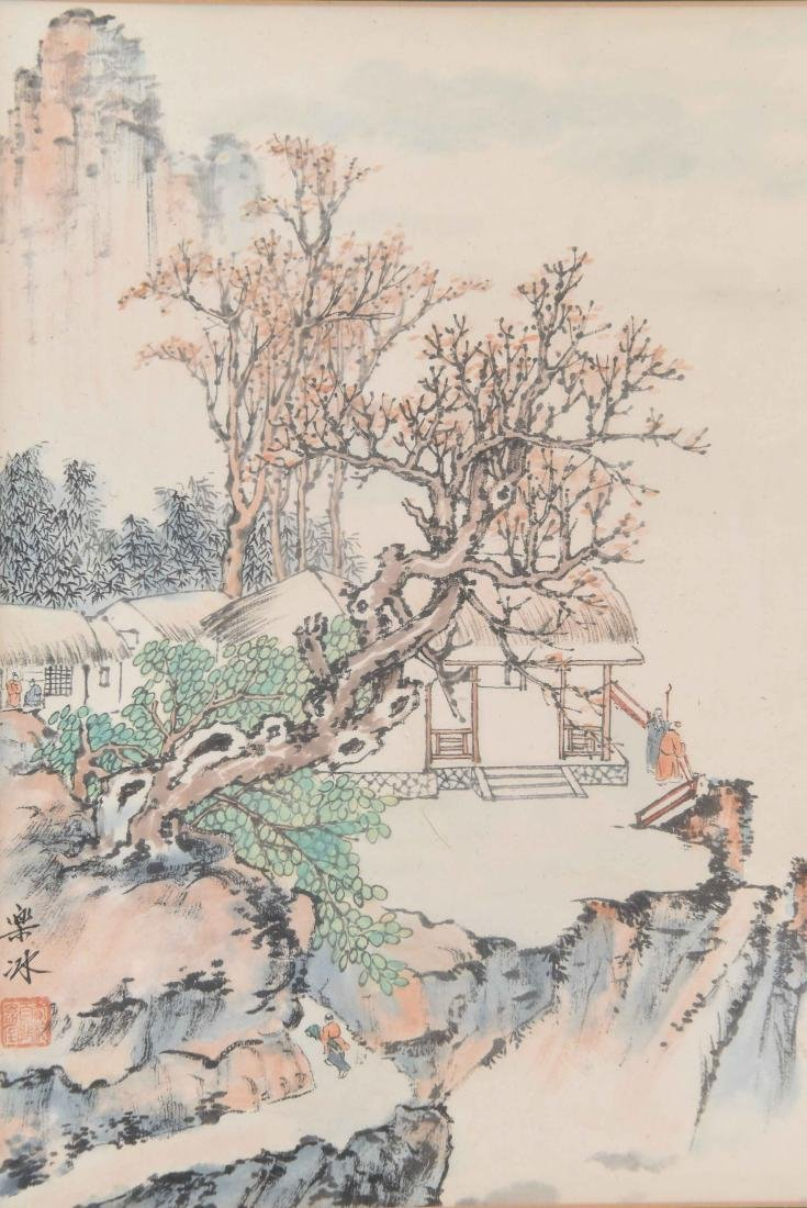 (4) CHINESE WATERCOLORS - 4