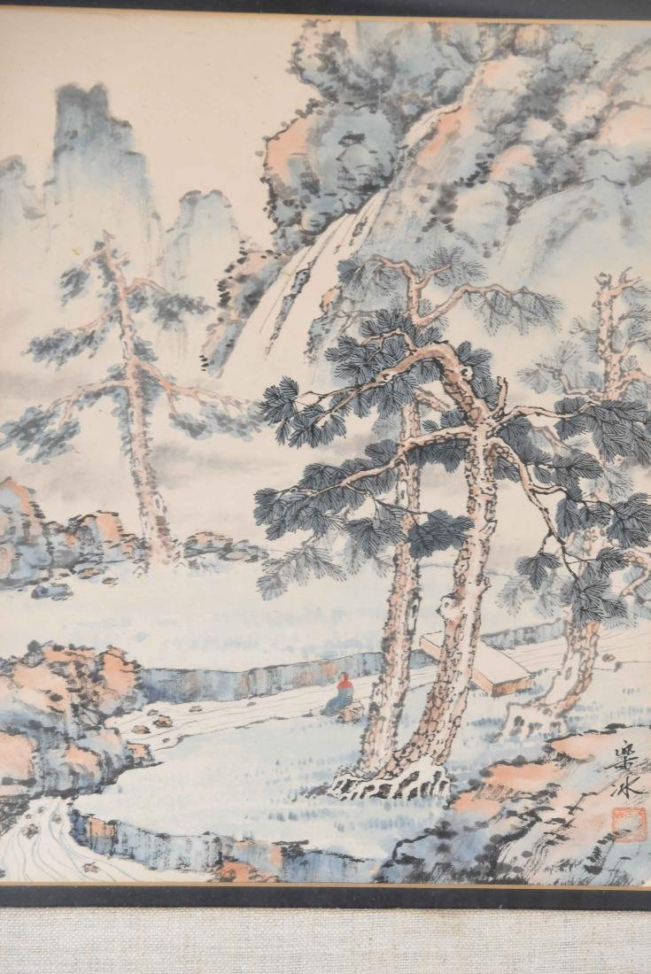 (4) CHINESE WATERCOLORS - 6