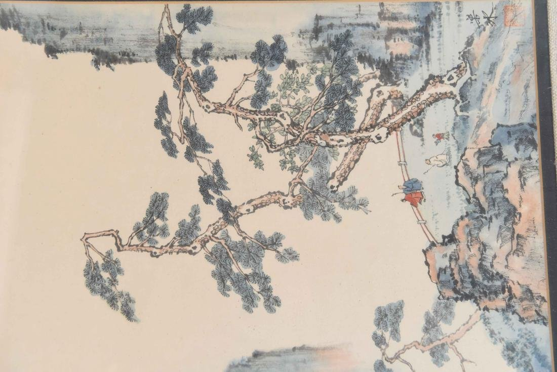 (4) CHINESE WATERCOLORS - 8