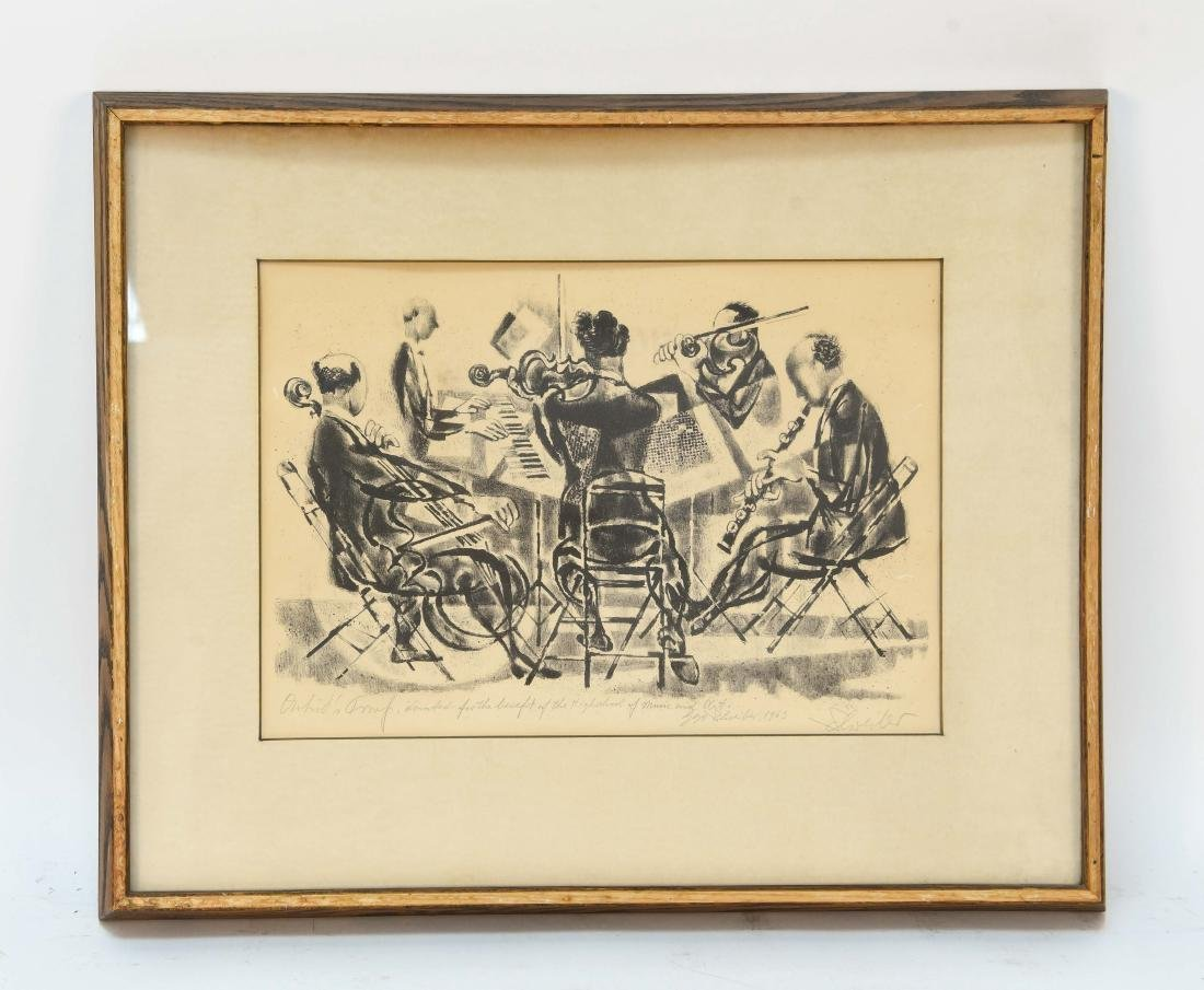 SIGNED PRINT OF ORCHESTRA 1963