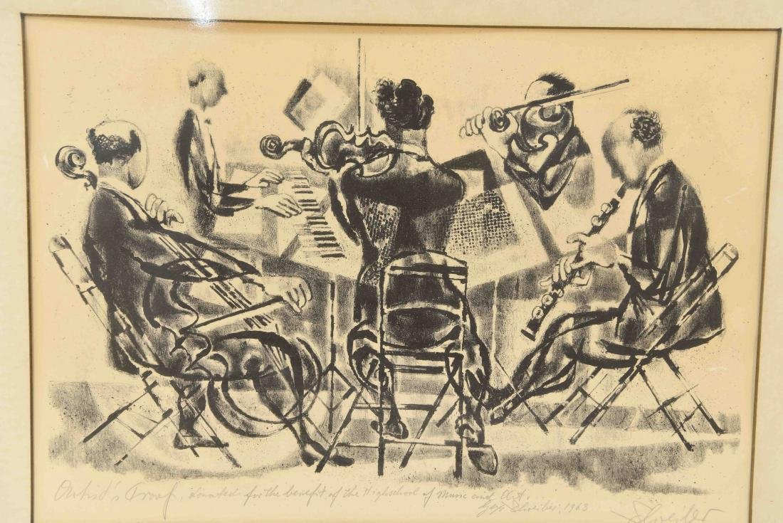 SIGNED PRINT OF ORCHESTRA 1963 - 2