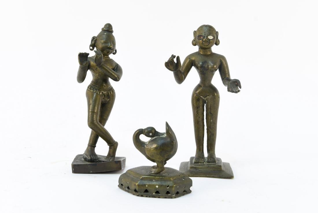 (3) INDIAN BRONZES