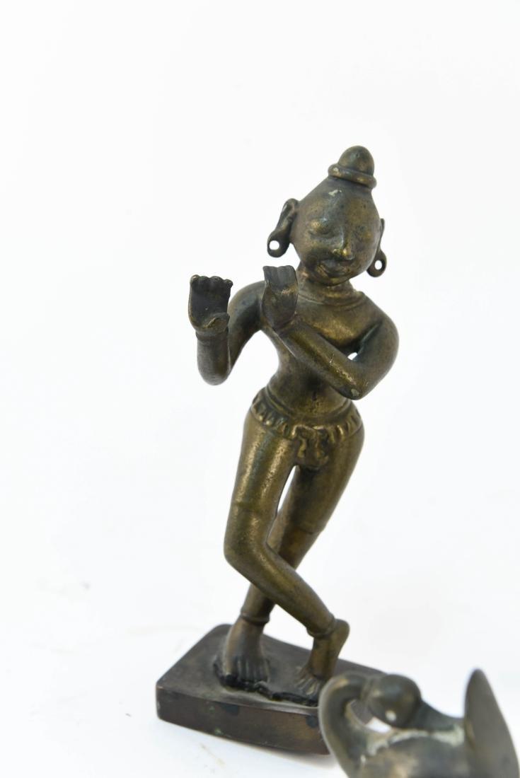 (3) INDIAN BRONZES - 5