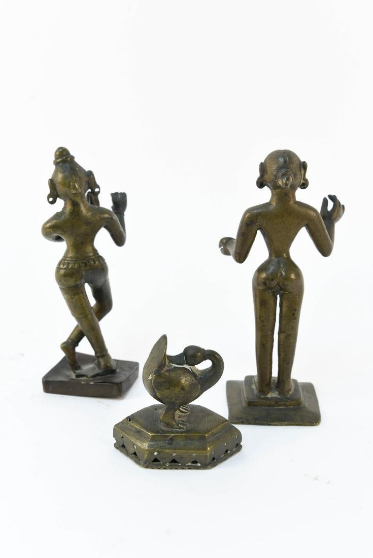 (3) INDIAN BRONZES - 7