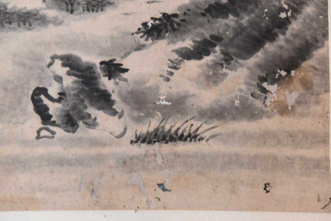 GROUPING INCL. (3) SCROLLS AND WATERCOLOR PAINTING - 4