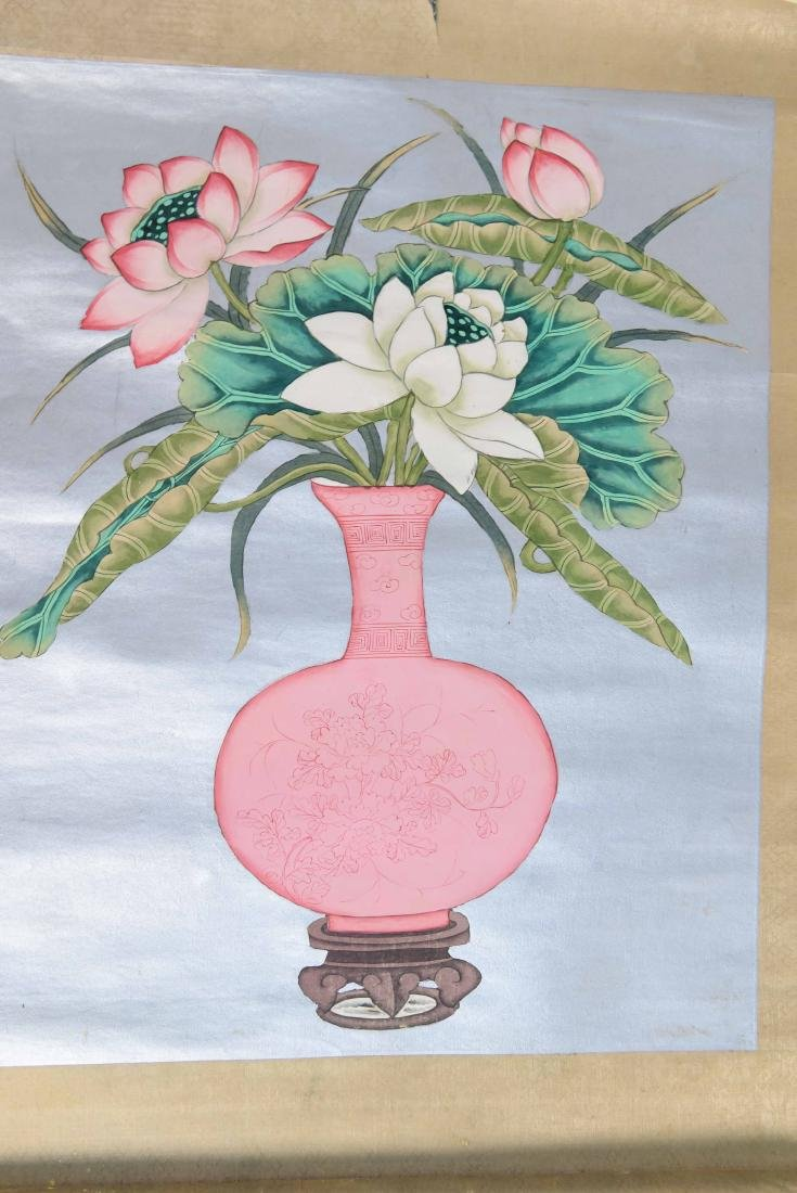 GROUPING INCL. (3) SCROLLS AND WATERCOLOR PAINTING - 6