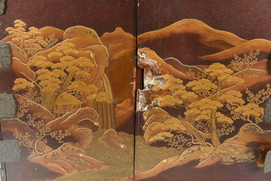 ANTIQUE JAPANESE LACQUER CABINET - 2