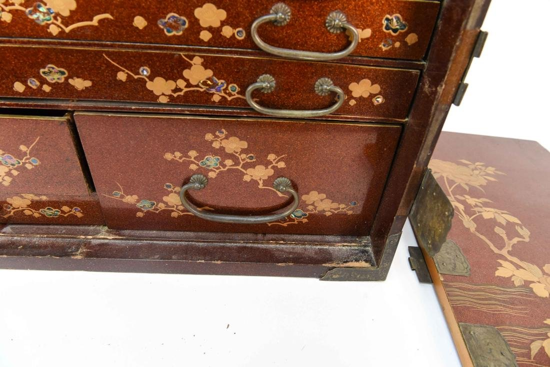 ANTIQUE JAPANESE LACQUER CABINET - 7
