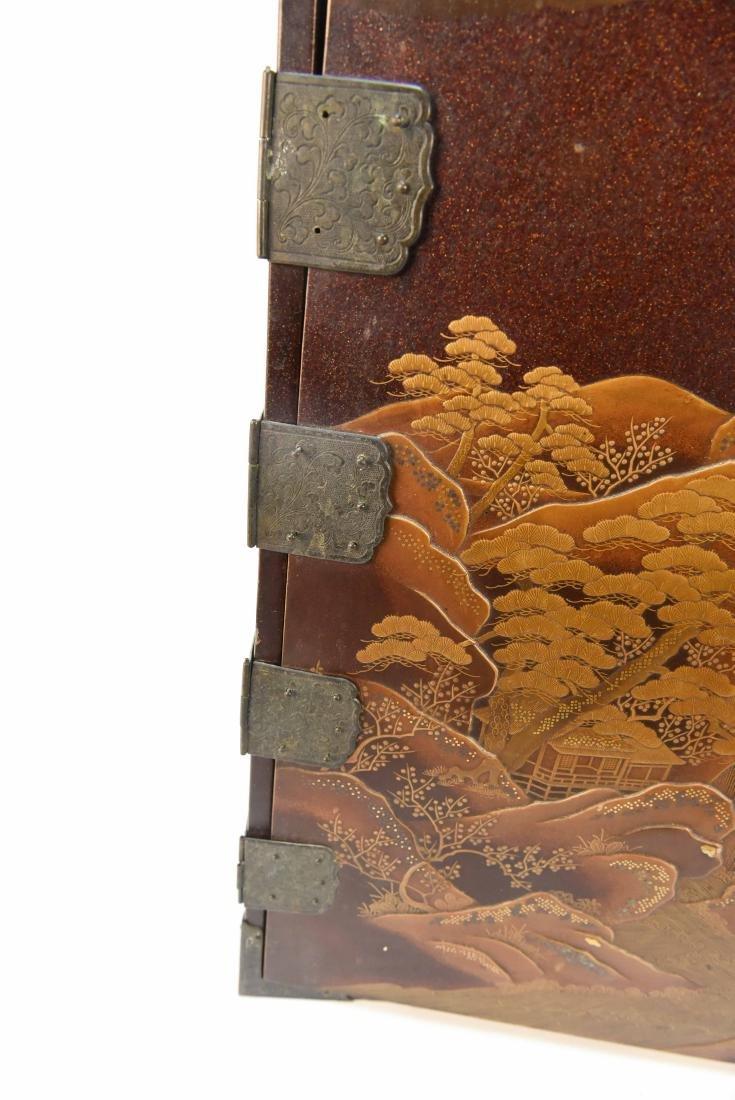 ANTIQUE JAPANESE LACQUER CABINET - 8