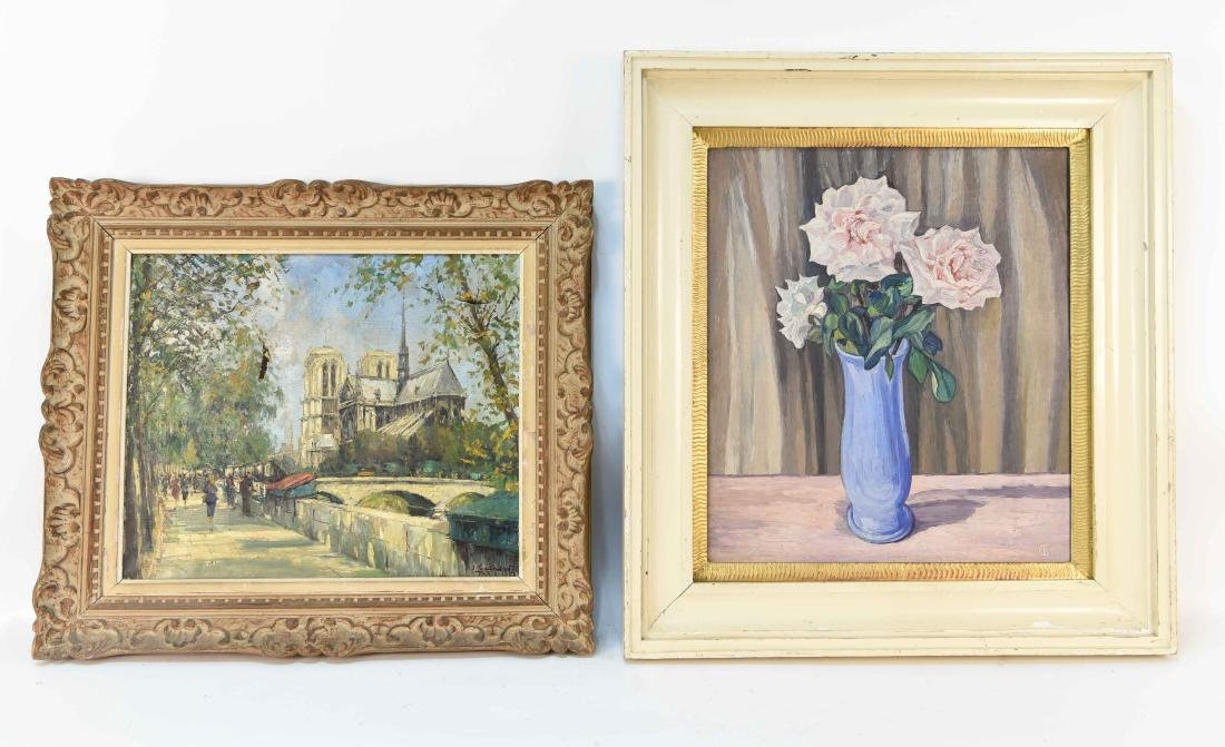 TWO 20TH CENTURY OIL PAINTINGS