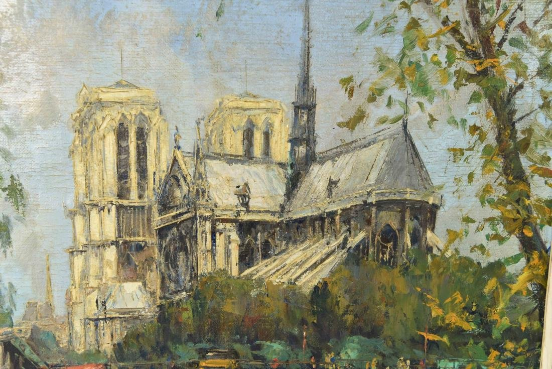 TWO 20TH CENTURY OIL PAINTINGS - 4