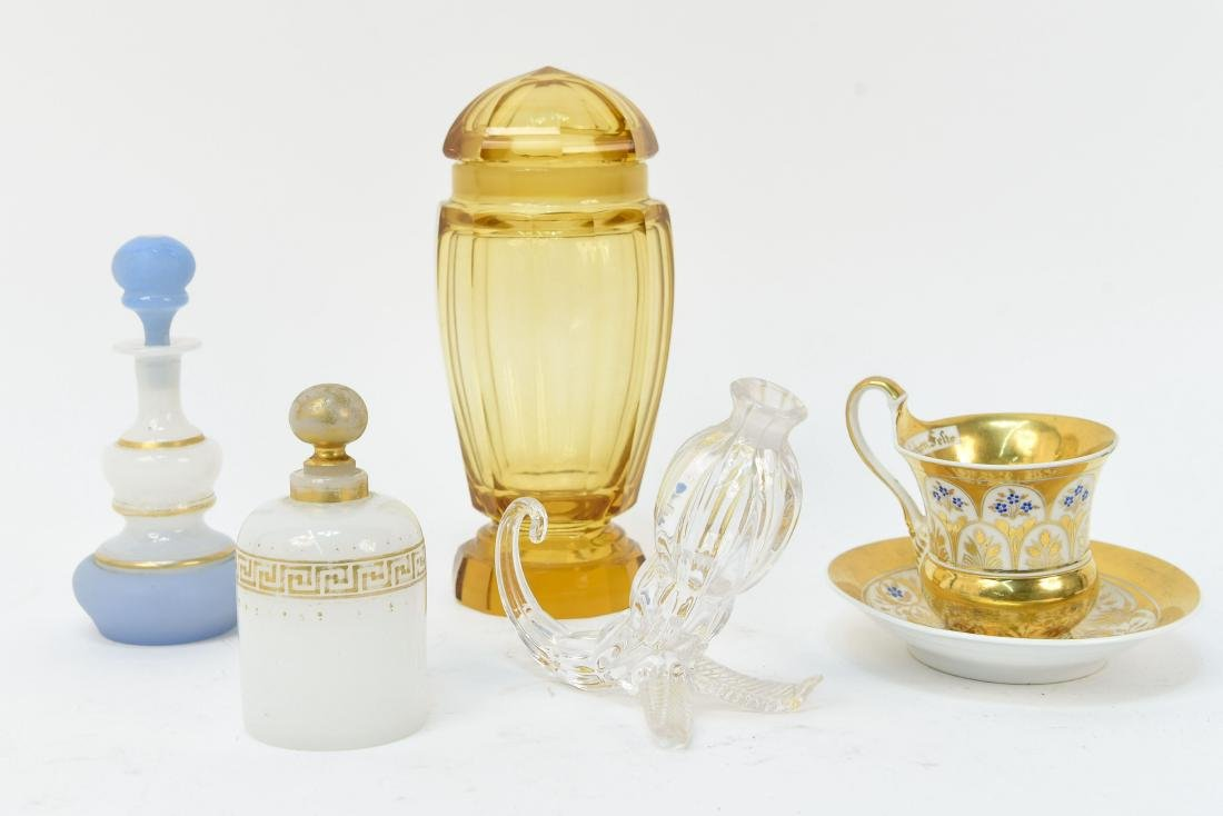GROUPING OF GLASS AND PORCELAIN INCL. KPM