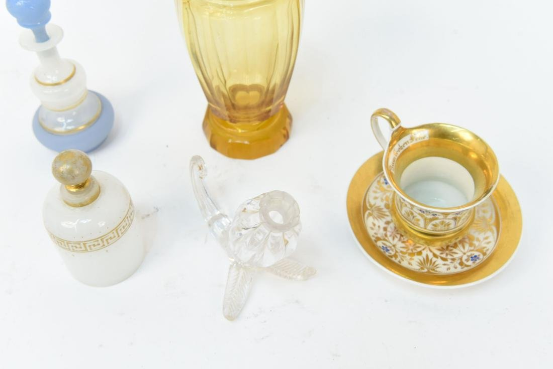 GROUPING OF GLASS AND PORCELAIN INCL. KPM - 7