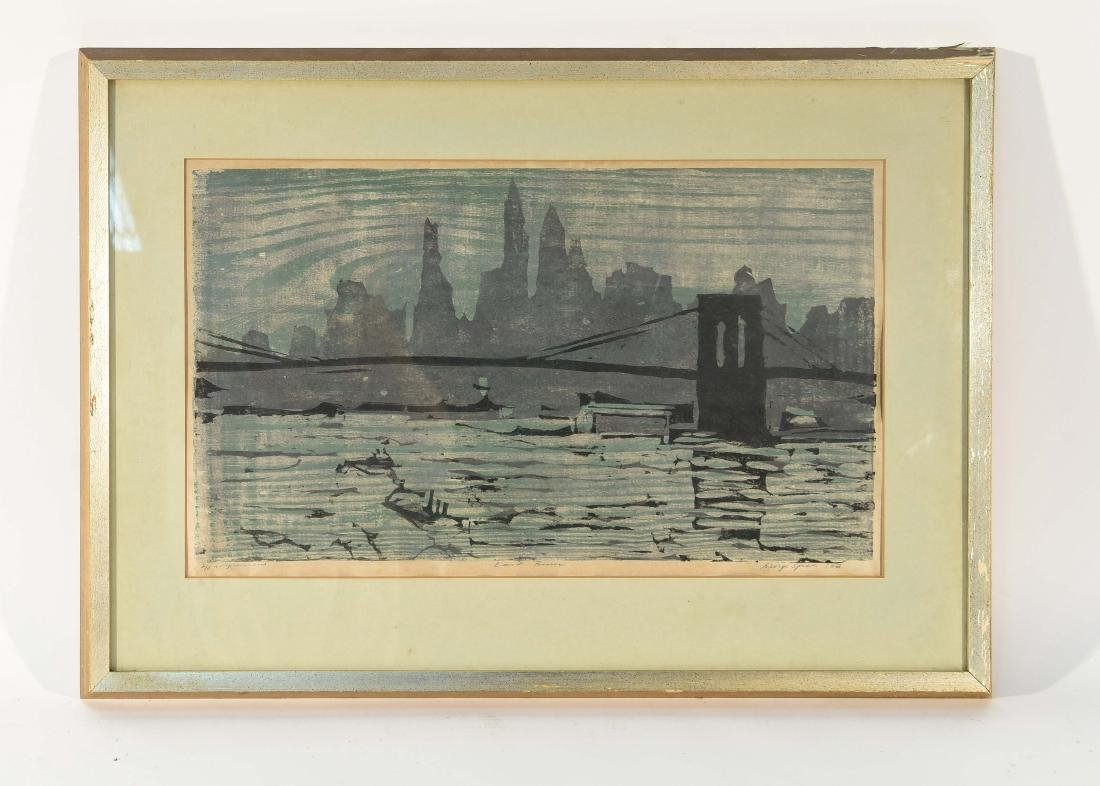 "COLOR BLOCK PRINT ""EAST RIVER"""