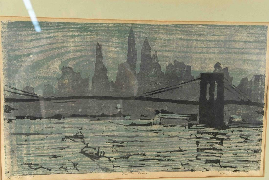 "COLOR BLOCK PRINT ""EAST RIVER"" - 2"