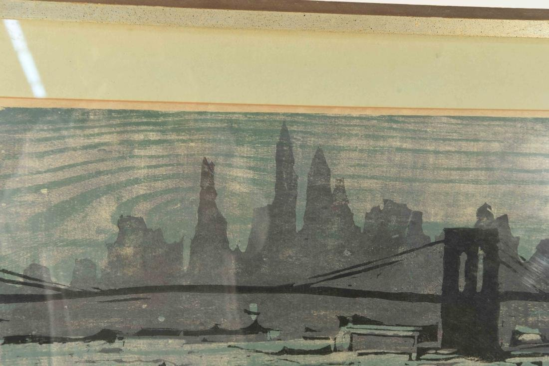 "COLOR BLOCK PRINT ""EAST RIVER"" - 8"