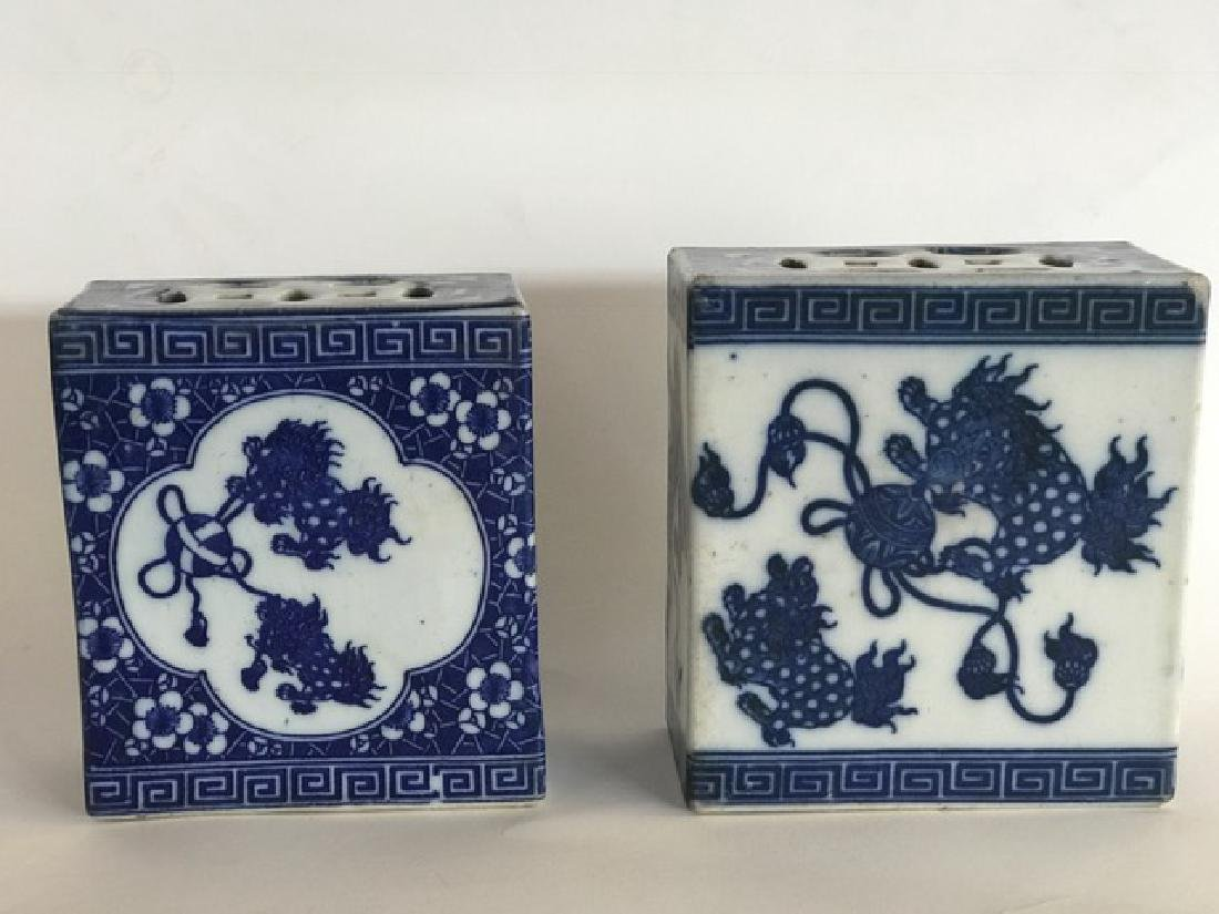 PAIR OF CHINESE PORCELAIN OPIUM PILLOWS