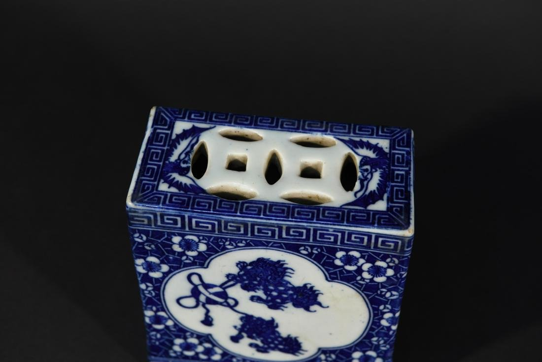 PAIR OF CHINESE PORCELAIN OPIUM PILLOWS - 3