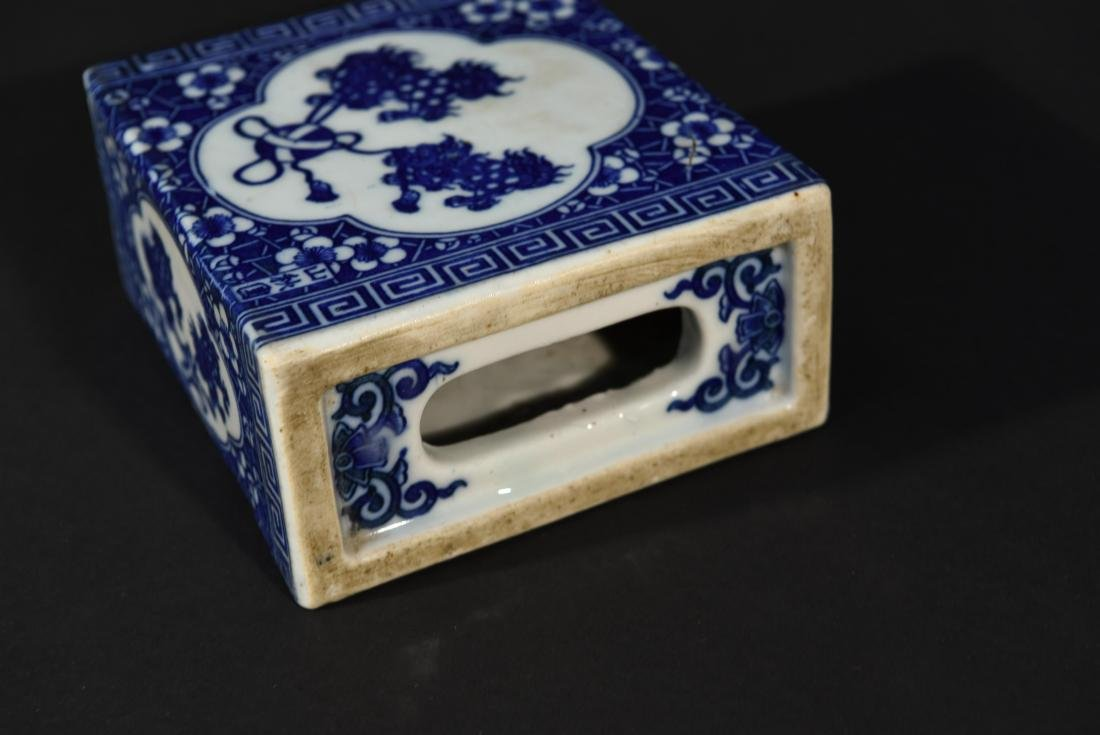 PAIR OF CHINESE PORCELAIN OPIUM PILLOWS - 7