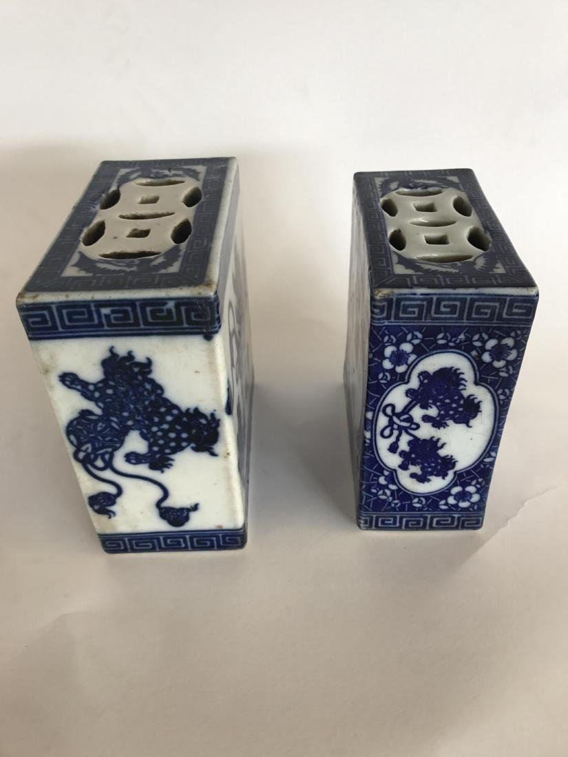 PAIR OF CHINESE PORCELAIN OPIUM PILLOWS - 8