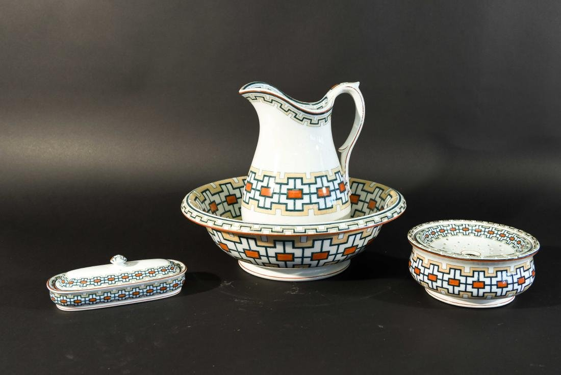 ENGLISH AESTHETIC PITCHER BOWL AND WASH SET