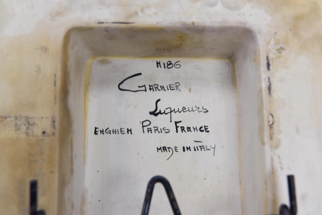 GARNIER LIQUEURS ITALIAN CERAMIC DECANTER - 8