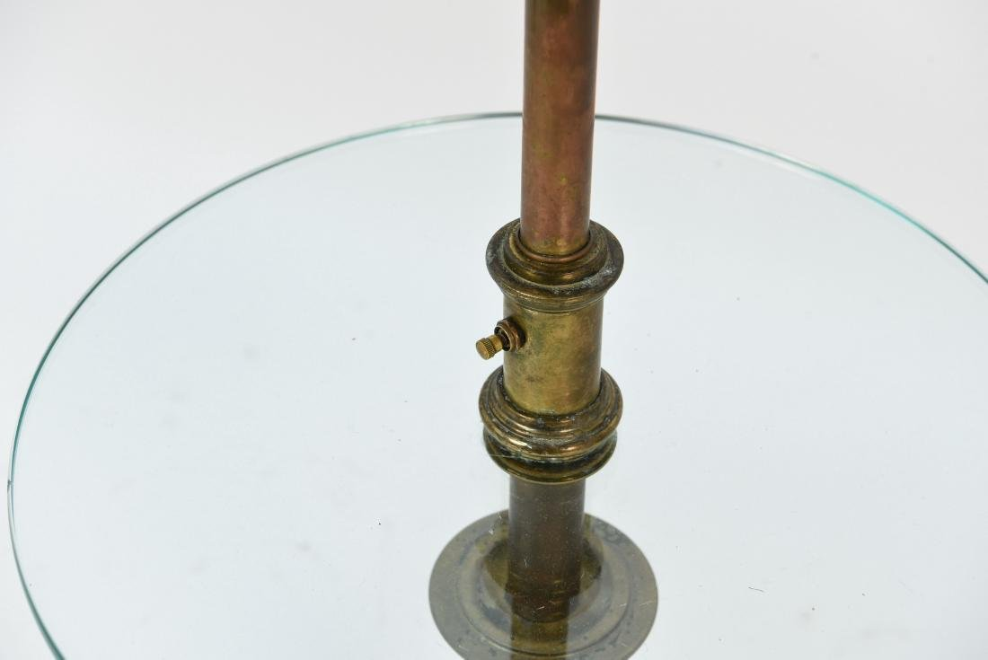 BRASS AND GLASS FLOOR LAMP - 3