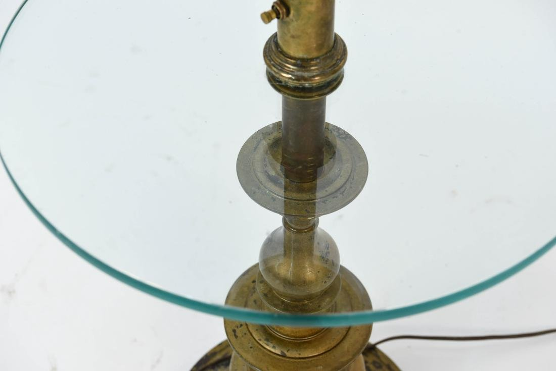 BRASS AND GLASS FLOOR LAMP - 4